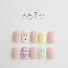 They allow to display a manicure impeccable during several weeks and to play with the form and the length of our nails. Trendy Nail Art, Cute Nail Art, Nail Art Diy, Cute Nails, Diy Art, Korean Nail Art, Korean Nails, Bunny Nails, American Nails