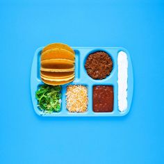 Minimalist, Deconstructed Sandwiches Organized Neatly On Vintage Lunch Trays - DesignTAXI.com