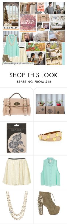 """""""The worst things in life come free to us."""" by jeffskinner ❤ liked on Polyvore featuring Mulberry, Zooey, Topshop, Tory Burch, Monki, Jon Richard, Jeffrey Campbell, skirts, tanks and quotes"""