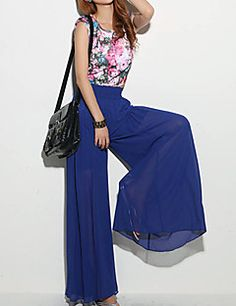 2016 New Fashion Lady Wide Leg Chiffon High Waist Pants Long Loose Culottes Trousers Special Designed Stylish Women Pants Chiffon Pants, Harem Pants Fashion, Everyday Casual Outfits, Dance Pants, Wide Leg Trousers, Chic Outfits, Pants For Women, Boho, Dress Outfits