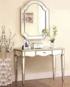 Oval Mirror Wood Make Up Table Vanity Set W/ Bench Walnut | Bedroom  Furniture | Pinterest | Oval Mirror, Make Up And Ps