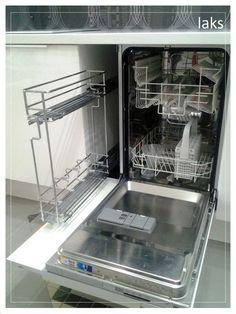Кухонная часть нашей гостиной.nnФасады фактум белый глянец. Духовка+микроволновка - Икеа НУТИД; дозатор для моющего средства Икеа; фартук обои + ...