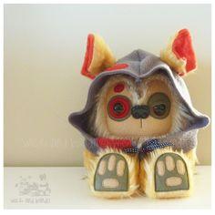 $70 Zombie Yeticub Hooded Beige by Wickandbandit on Handmade Australia