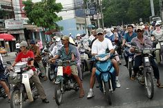 Ho Chi Minh City- the bikes and scooters = the adrenalin rush of getting across the road safely!