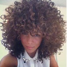 Pretty Curly Bangs, Curly Hair Styles, Natural Hair Styles, Curly Fro, Long Curly, Twisted Hair, Pelo Natural, Au Natural, Natural Beauty