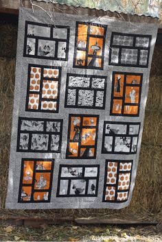 Quilt Taffy: Ghastlie Blog Hop.  Made using the Kitchen Window pattern out of Elizabeth Hartman's The Practical Guide to Patchwork.