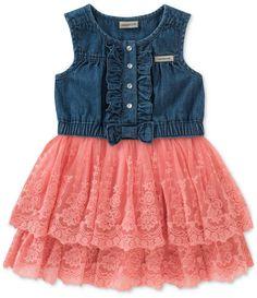 07ef30a59e7b Stylish Watermelon Baby Spaghetti Straps Dress With Detachable ...