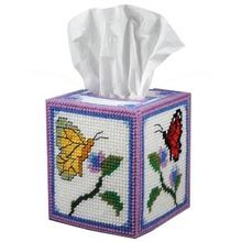 Butterfly Garden Tissue Box Plastic Canvas Kit - Herrschners