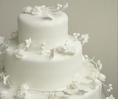 Sweet Violet Bride - http://sweetvioletbride.com/2012/12/white-wedding-cakes/