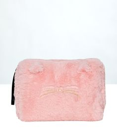 Neceser tejido peluche - FUR BAG - TROUSSE - ROSA - Etam