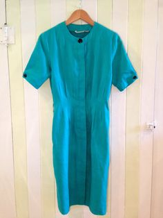 Turquoise Vintage Mod Dress by PrudenceandAustere on Etsy, $40.00