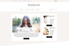 Dazzling // A Fashion Genesis Theme by @Graphicsauthor
