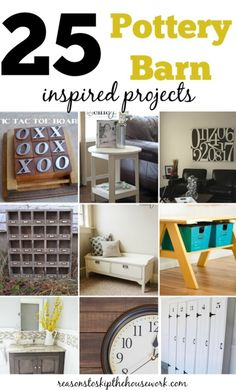 Pottery Barn Inspired Projects http://www.reasonstoskipthehousework.com/pottery-barn-inspired-projects/