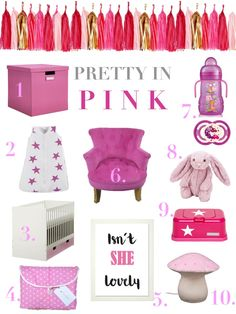 New Series up on the Blog - Pretty in Pink - Nursery - Moodboard - Kids Room - Rosé, Rosa