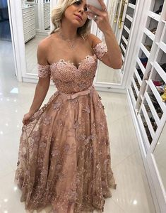 Stylish tulle lace long prom dress, champagne tulle evening dress, fashion formal dress
