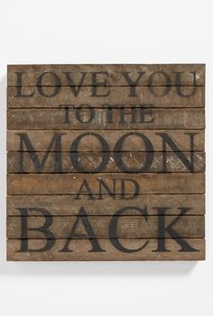 Handcrafted 'Love You to the Moon' Repurposed Wood Wall Art http://rstyle.me/n/ts2z2bh9c7