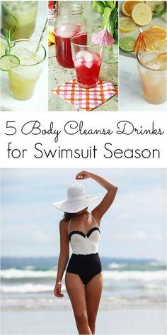 5 Body Cleanse Drinks Pinterest Image