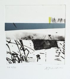 Small drypoint: constructed landscape Alice Sheridan | printmaking