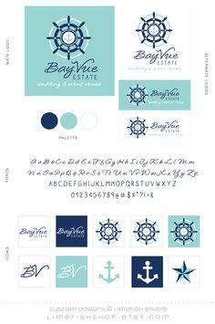 Studio Custom Logo + Branding :: // nautical logo, rope logo, custom branding options.  Navy to coral color maybe
