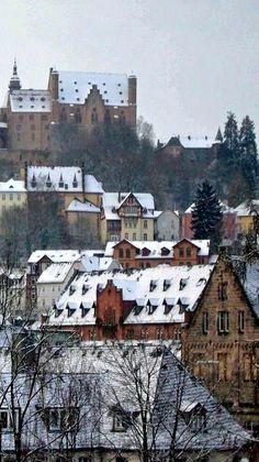 Marburg in the snow, Germany (by Susanne Rommel)