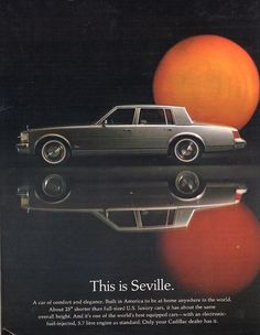 1977 Cadillac Seville.  A forerunner to the car I drive today.