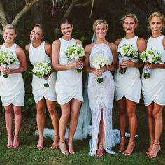 • LUCY • one day bride • custom gown • love this shot of her and beautiful Lucy and her stunning bridesmaids • photography: @thewhitetree • #onedaybridal #bridesmaids #zimmerman #bali #baliwedding #thewhitetree