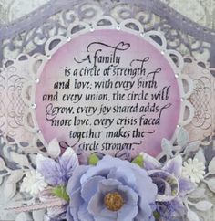 Hi Everyone it's Teresa here today to share a special card I did with a really pretty family stamp by Quietfire Design # 5572 that you . Family Roots, Breast Cancer Awareness, I Card, Cardmaking, Christmas Cards, Joy, Make It Yourself, Frame, Holiday