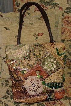 I ❤ crazy quilting . . .    RenginYazitas- My first CQ purse: