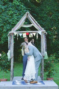 boho wedding ceremony | The Barn at Cedar Grove | Nikita Gross Photography