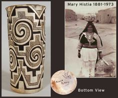 Mary Histia and an exceptional Tularosa-style vase made by her.