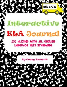 This is a 100 page document that provides you with ways to guide your 5th grade ELA journals daily/weekly.