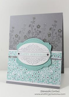 Birthday Card with Sweet Sorbet Paper