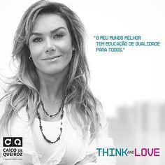 E hoje vamos encerrando mais um mês de 2015 e, na nossa causa, no calendário da Think and Love, a bela @luizealtenhofen, que estampou o mês de fevereiro! Não poderia ser mais bem representado pela alegria. #cq10anos #caicodequeiroz #luizealtenhofen #thinklove