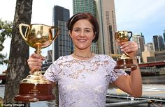 Michelle Payne would not be denied despite suffering two career threatening injuries - she went on to claim her first Melbourne Cup and was still celebrating on Wednesday morning Melbourne Cup Winners, Alcoholic Drinks, Wednesday Morning, Tuesday, Ms, Career, November, Sport, Twitter