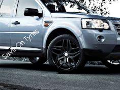 "4 20"" New Alloy Wheels Tyres Range Rover Style Evoque Freelander 5x108 Black **save on Tyres 01392 20 30 51 **"