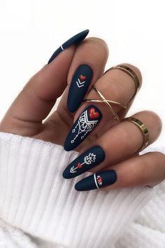 Stylish Nails, Trendy Nails, Gothic Nails, Plaid Nails, Geometric Nail Art, Best Acrylic Nails, Dream Nails, Fancy Nails, Perfect Nails
