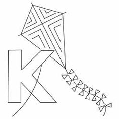 Pattern Detail | K for Kite | Needlecrafter