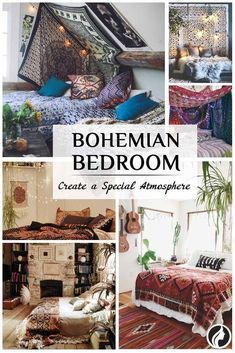 A bohemian bedroom is ideal for people who have a creative worldview and are not afraid to demonstrate it. Check out our décor ideas here! Small Room Bedroom, Small Rooms, Bedroom Decor, Bedroom Ideas, Bedroom Beach, Nice Bedrooms, Boho Bedroom Diy, Warm Bedroom, Dorm Room