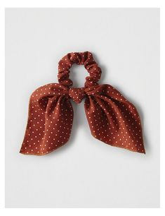 American Eagle Outfitters Men's & Women's Clothing, Shoes & Accessories AEO Rust Polka Dot Bow Scrunchie , Rust Scrunchies, Diy Hairstyles, Pretty Hairstyles, American Eagle Outfitters, Hair Accessories For Women, Mens Outfitters, Bad Hair, Mode Inspiration, Cute Jewelry