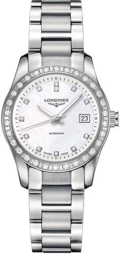 @longineswatches  Conquest Classic #add-content #bezel-diamond #bracelet-strap-steel #brand-longines #case-material-steel #case-width-29-5mm #date-yes #delivery-timescale-1-2-weeks #dial-colour-white #gender-ladies #l22850876 #luxury #movement-automatic #official-stockist-for-longines-watches #packaging-longines-watch-packaging #style-dress #subcat-conquest #supplier-model-no-l2-285-0-87-6 #warranty-longines-official-2-year-guarantee #water-resistant-50m