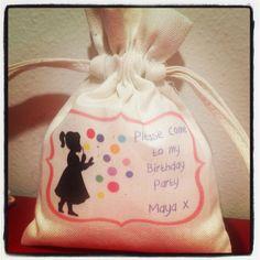 Maya's birthday favour bag