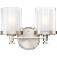 Nuvo Lighting Decker 2 Light Bath Vanity Light $119