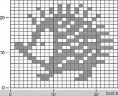 Tiny Cross Stitch, Cross Stitch Designs, Cross Stitch Patterns, Fair Isle Knitting Patterns, Knitting Charts, Crochet Patterns, Fair Isle Chart, Filet Crochet Charts, Pixel Pattern
