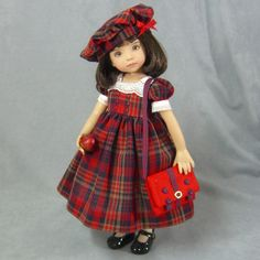 I'm a little behind at getting my Back to School dresses shown, but hopefully some of your areas haven't started school yet and you can still enjoy them. It was funny, but yesterday, wh… American Girl, Red Dolls, Dressing Sense, School Dresses, Doll Costume, Costumes, Vintage Paper Dolls, Bisque Doll, Little Doll