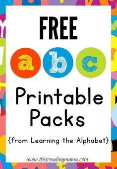 FREE ABC Printable Packs From Learning The Alphabet