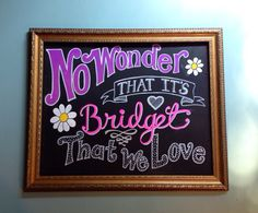 Custom Hand Painted Chalkboard Canvas on Etsy, $46.00