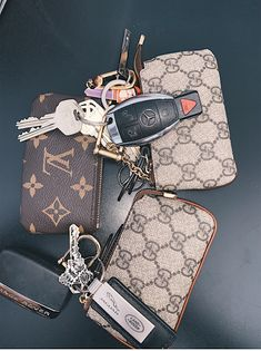Awesome luxury cars detail are offered on our web pages. Luxury Purses, Luxury Bags, Louis Vuitton Key Pouch, Louis Vuitton Keychain Wallet, Wallet Keychain, Sacs Design, Cute Car Accessories, Car Interior Accessories, Girly Car