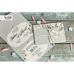 Invitatii pentru Nunta Ieftine si Elegante cu Model Flori de Cires 70318 Container, Cards Against Humanity, Floral, Model, Wedding, Green, Valentines Day Weddings, Flowers
