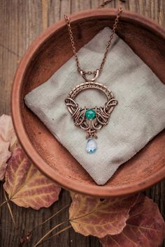 Wire copper pendant. Inspired by Game of thrones.