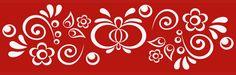 MORAVSKE ORNAMENTY | Grafický návrh plakátu pro benefiční koncert Hradišťanu ... Stencil Patterns, Pattern Art, Stencil Diy, Stencils, Russian Folk Art, Decorative Paintings, Sharpies, Decorating Tips, Quilting